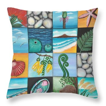 Nz Treasures Throw Pillow by Astrid Rosemergy