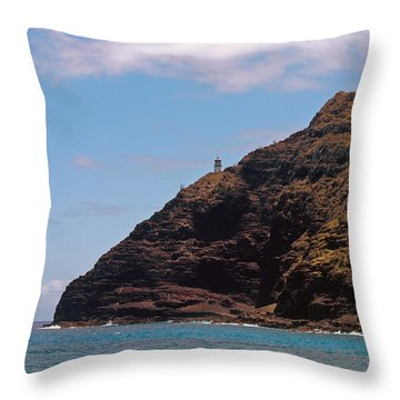 Oahu - Cliffs Of Hope Throw Pillow by Anthony Baatz
