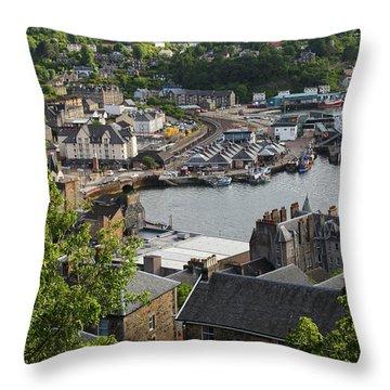 Oban Scotland Throw Pillow