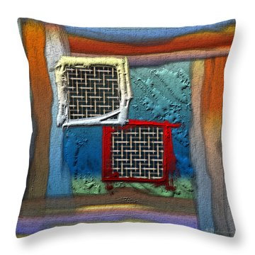 Obstructed Ocean View Throw Pillow by Serge Averbukh