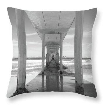 Throw Pillow featuring the photograph Ocean Beach Pier by Ana V Ramirez
