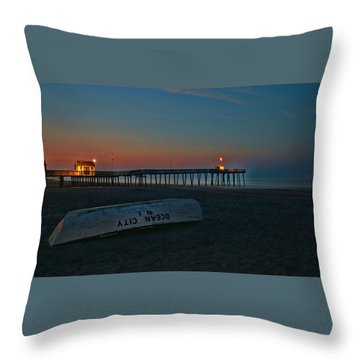 Ocean City  N J Sunrise Throw Pillow