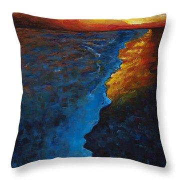 Ocean Sunset Throw Pillow by Frances Marino