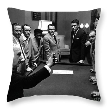 Ocean's 11 Promotional Photo. Throw Pillow by The Titanic Project