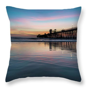 Ocean Sunset Throw Pillows