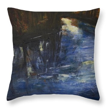 October Reflections Throw Pillow by John Hansen
