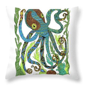 Octopus' Garden Throw Pillow
