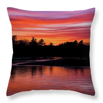 Odiorne Point Sunset Throw Pillow