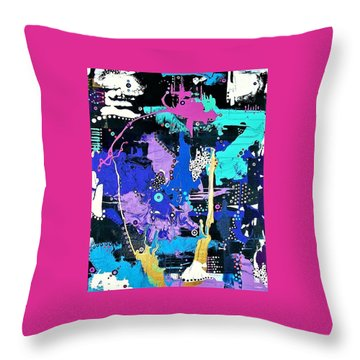 Of Moonbeams And Mad-hatters Throw Pillow