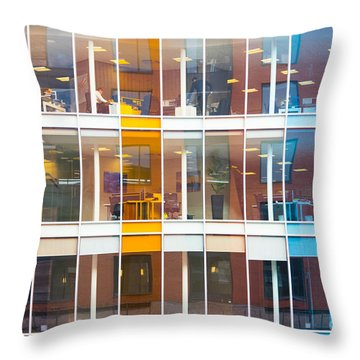 Throw Pillow featuring the photograph Office Windows by Colin Rayner