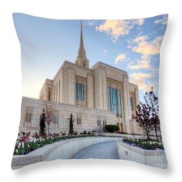 Ogden Temple Throw Pillow