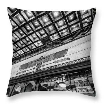 Throw Pillow featuring the photograph Ogden's Historic Peery's Egyptian Theater At Night by Gary Whitton
