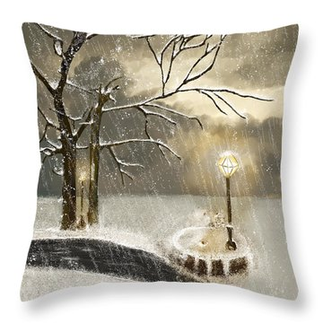 Oh Let It Snow Let It Snow Throw Pillow by Angela A Stanton