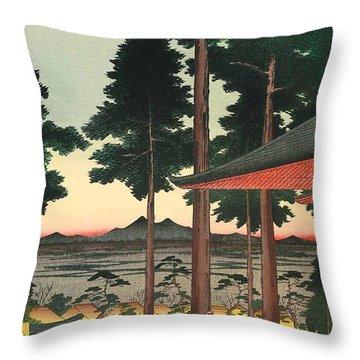 Oji Inari Shrine Throw Pillow