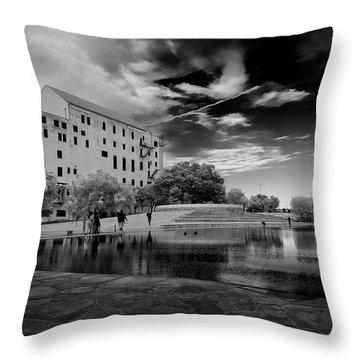 Okc Memorial Throw Pillow