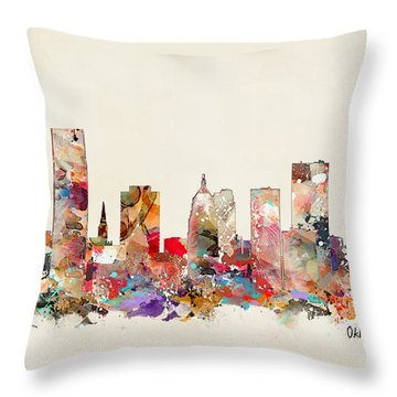 Oklahoma City Oklahoma Throw Pillow