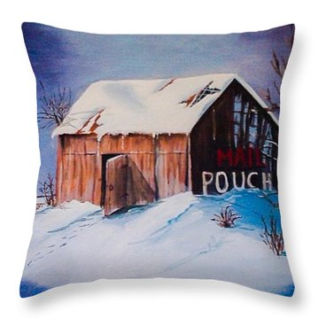 Old Barn Throw Pillow by Catherine Swerediuk