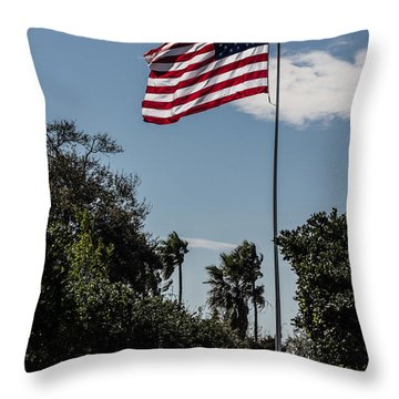 Old Glory Throw Pillow by Nance Larson