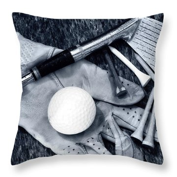 Old Golf Days Throw Pillow by Charline Xia