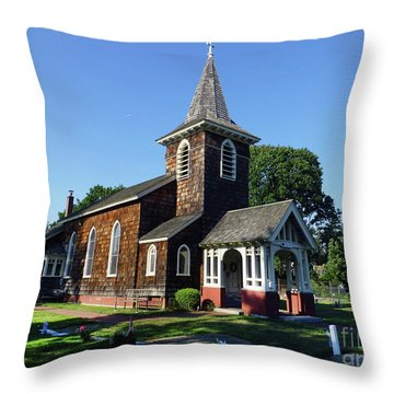 Old Grace Church Massapequa  Throw Pillow