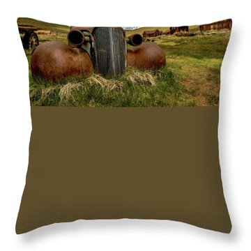 Old Jalopy Bodie State Park Throw Pillow