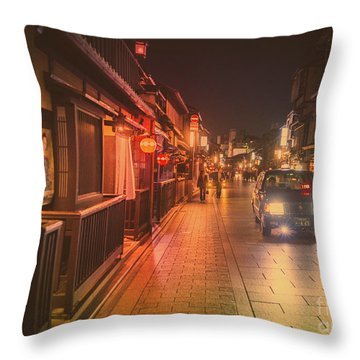 Old Kyoto, Gion Japan Throw Pillow