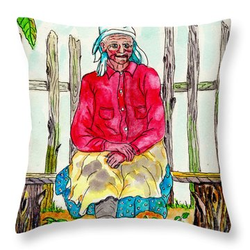 Old Migrant Worker, Resting, Arcadia, Florida 1975 Throw Pillow