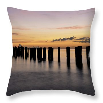 Throw Pillow featuring the photograph Old Naples Pier by Kelly Wade
