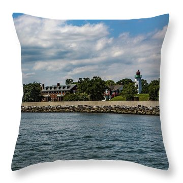 Old Point Comfort Light Throw Pillow