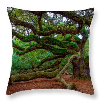 Old Southern Live Oak Throw Pillow