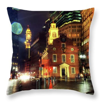Throw Pillow featuring the photograph Old State House - Boston by Joann Vitali