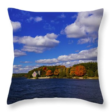 Old Stone Church. West Boylston, Massachusetts. Throw Pillow