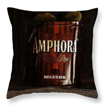 Old Tobacco Can Throw Pillow
