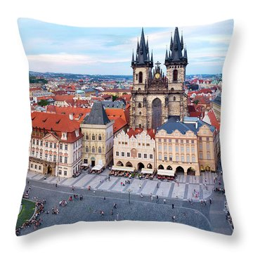 Throw Pillow featuring the photograph Old Town Square by Fabrizio Troiani