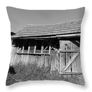 Old Workshop Throw Pillow