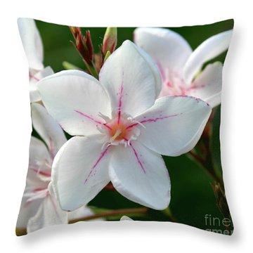 Oleander Harriet Newding  2 Throw Pillow