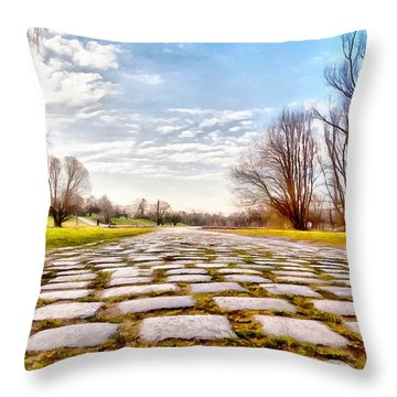 Olimpia Park - Munich Throw Pillow by Sergey Simanovsky