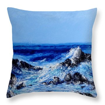 Keanae Point  Throw Pillow by Fred Wilson