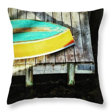 Throw Pillow featuring the photograph On Deck by Olivier Calas