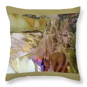 Throw Pillow featuring the painting On Gossamer Wing by Mary Sullivan
