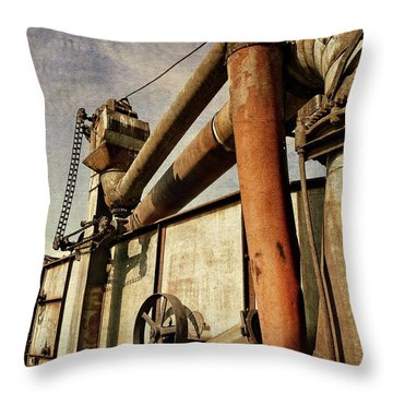 Throw Pillow featuring the photograph On The Farm by Michelle Calkins