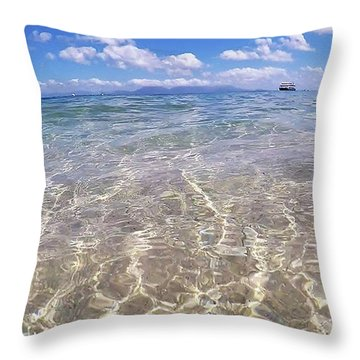 Throw Pillow featuring the photograph On The Horizon by Debbie Cundy