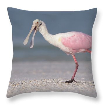 On The Move Throw Pillow by Jim Gray