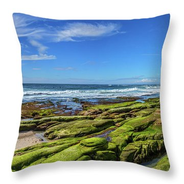 Throw Pillow featuring the photograph On The Rocky Coast by Peter Tellone