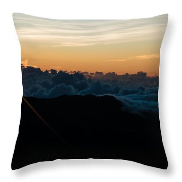 Throw Pillow featuring the photograph On Top Of The World by Colleen Coccia
