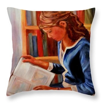 Once Upon A Time Throw Pillow by Carol Berning
