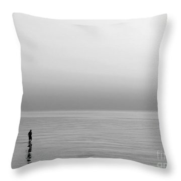 One Man Throw Pillow by Dana DiPasquale