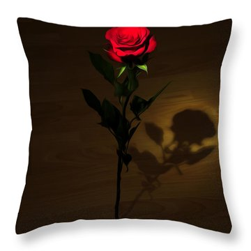 One Red Rose Throw Pillow by Svetlana Sewell