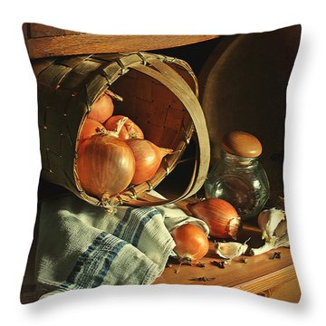 Onionart Throw Pillow