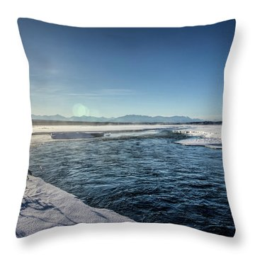 Open Water Throw Pillow